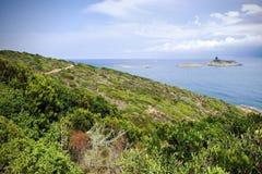 Vue de Corse photographie stock
