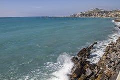 Vue de costiero ciclabile de parco de Pista Photographie stock