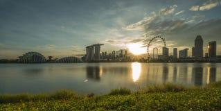 Vue de coucher du soleil Image stock