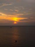 Vue de coucher du soleil images libres de droits