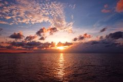 Vue de coucher du soleil Photographie stock libre de droits