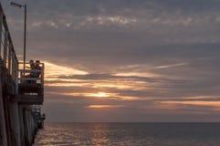 Vue de coucher du soleil Photo libre de droits
