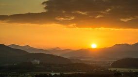Vue de coucher du soleil de Hak Observatory Images libres de droits