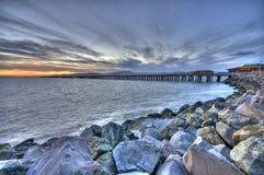 vue de coucher du soleil de marina de Berkeley Photo libre de droits