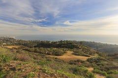 Vue de coucher du soleil de région de Santa Monica photos stock