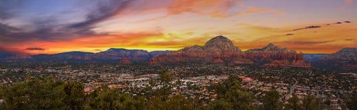 Vue de coucher du soleil de Sedona, Arizona Image stock
