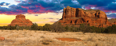 Vue de coucher du soleil de Sedona, Arizona Images libres de droits
