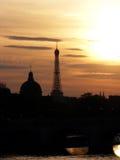 Vue de coucher du soleil de Tour Eiffel Image stock