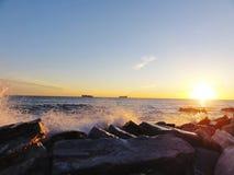 Vue de coucher du soleil en Italie Images stock