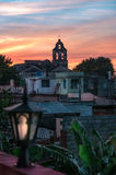 Vue de coucher du soleil en Santa Clara Image libre de droits