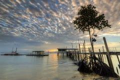 Vue de coucher du soleil et de lever de soleil Images stock