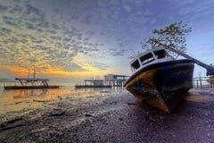 Vue de coucher du soleil et de lever de soleil Image libre de droits