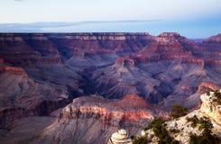 Vue de coucher du soleil du parc de Grand Canyon Ntional, Arizona Images libres de droits