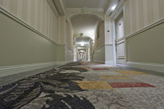 Vue de couloir d'hôtel de point de vue Photographie stock