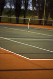 Vue de court de tennis Photo stock