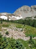 Vue de crête et de glaciers de montagne Photographie stock