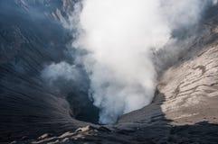Vue de cratère de Bromo de bâti Image libre de droits