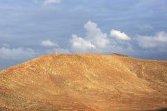 Vue de cratère de roja du Montana Images libres de droits