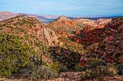 Vue de crique de moulin, Moab Utah Image libre de droits