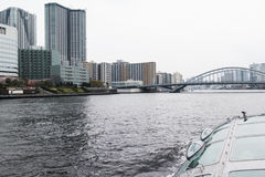 Vue de croisière de rivière de Sumida Photo libre de droits