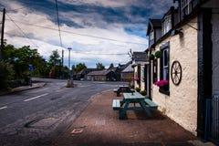 Vue de croissant d'Agnew, Bladnoch, Wigtown, près de restaurant d'auberge de Bladnoch photos libres de droits