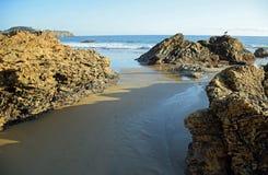 Vue de Crystal Cove State Park, la Californie du sud photos stock