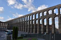 Vue de début de la matinée d'aqueduc Ségovie, Espagne image libre de droits