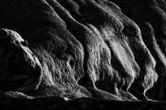 Vue de début de la matinée des roches chez Ameib, Namibie monochrome Images libres de droits