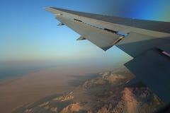 Vue de désert de l'avion Image stock