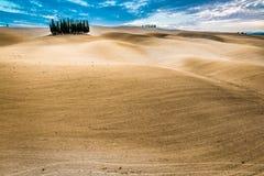 Vue de désert pendant l'automne de la Toscane Image libre de droits