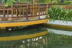 Vue de détail de jardin de Malecon 2000, Guayaquil, Equateur Images stock