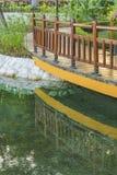 Vue de détail de jardin de Malecon 2000, Guayaquil, Equateur Photographie stock