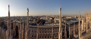 Vue de dôme de Milan Images stock