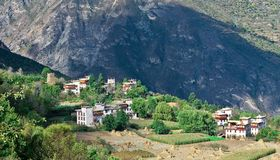 Vue de Danba, Sichuan 4 Photos libres de droits