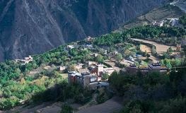 Vue de Danba, Sichuan, 4 Images libres de droits