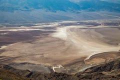 Vue de Dante's - parc national de Death Valley, la Californie, Etats-Unis Photos stock