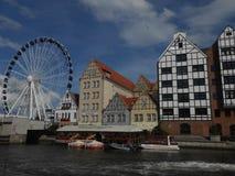 Vue de Danzig avec la roue panoramique image stock