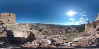 vue de 360 degrés de Jalance avec la centrale nucléaire de Cofrentes Images libres de droits