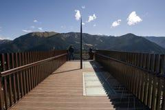 Vue de del Roc del Quer, Andorre de Mirador photo libre de droits