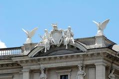 Vue de della Reppublica de Piazza de ville de Rome le 1er juin 2014 Photographie stock libre de droits
