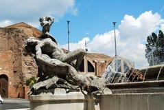 Vue de della Reppublica de Piazza de ville de Rome le 1er juin 2014 Photographie stock