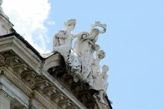 Vue de della Reppublica de Piazza de ville de Rome le 1er juin 2014 Photos stock