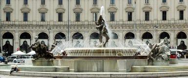 Vue de della Reppublica de Piazza de ville de Rome le 1er juin 2014 Image libre de droits