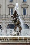 Vue de della Reppublica de Piazza de ville de Rome le 1er juin 2014 Photo libre de droits