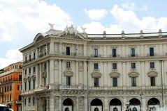 Vue de della Reppublica de Piazza de ville de Rome le 1er juin 2014 Photos libres de droits