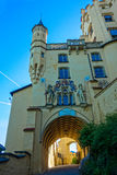 Vue de dessous dans le château de Hohenschwangau Photographie stock libre de droits