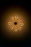 Vue de dessous la lampe électrique de plafond Photo stock