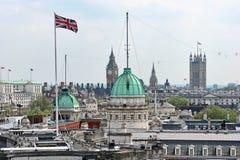 Vue de dessus de toit au-dessus de Whitehall Londres Angleterre R-U Photographie stock