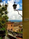Vue de dessus de toit dans Montepulciano, Toscane, Italie Image libre de droits