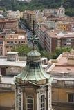 Vue de dessus de toit de Rome, Italie. Photos stock